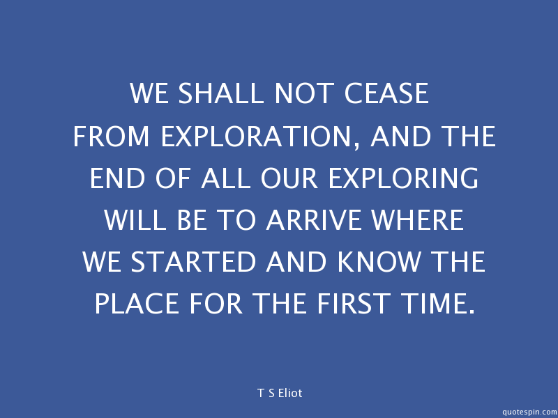 Exploration Ts Eliot Quotes Quotesgram: Blair Wells LLC